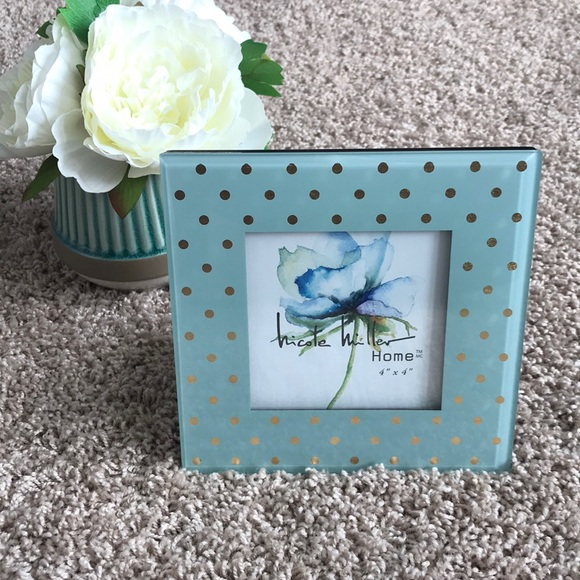 Nicole Miller Other Brand New Teal Or Blue Gold Picture Frame